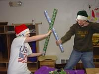 Holiday wrapping paper fight