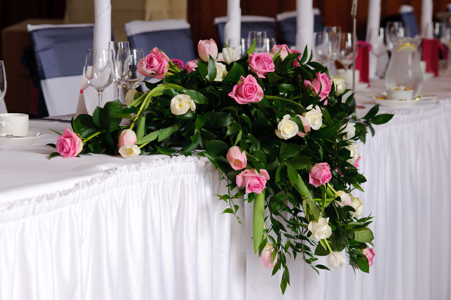 Ceremony reception - Fleurs table mariage ...